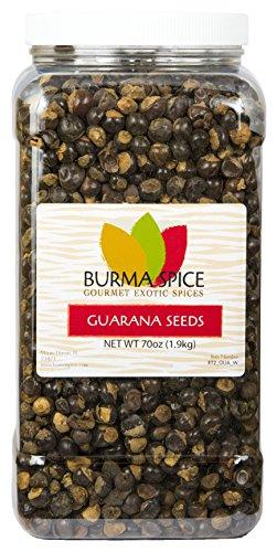 Whole Brazilian Guarana Seeds : Wild Harvested : High Source of Caffeine (70oz.)