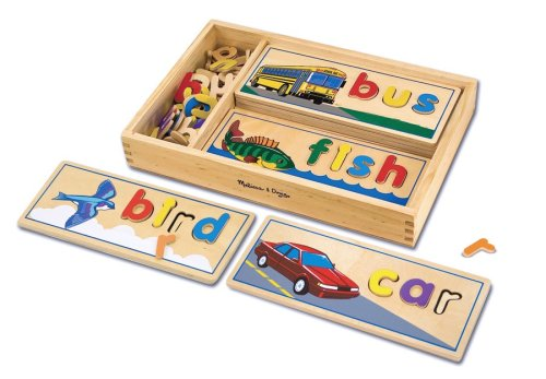 Melissa And Doug See And Spell Wooden Educational Puzzles