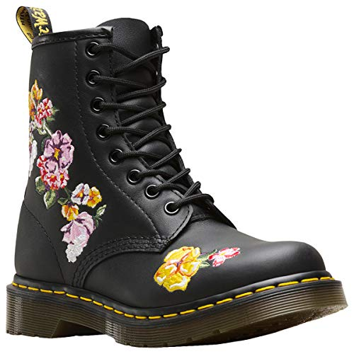 Dr. Martens Womens 1460 Vonda II Black Softy T Floral Pattern Ankle Boots Size 5