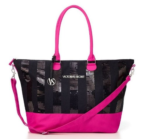 Victoria's Secret Black Friday 2013 Limited Edition Weekender Bag Black/Pink