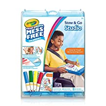 Crayola, Color Wonder Mess-Free colouring, Stow & Go Studio, Art Tools, Activity Book and Markers, Storage Case, Great for Travel