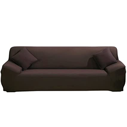 Funda elástica de tela para sofás, de ParaCity, café, 4 seater:230-300cm