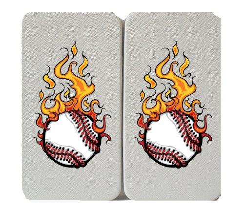 Flaming Baseball Logo - Taiga Hinge Wallet Clutch