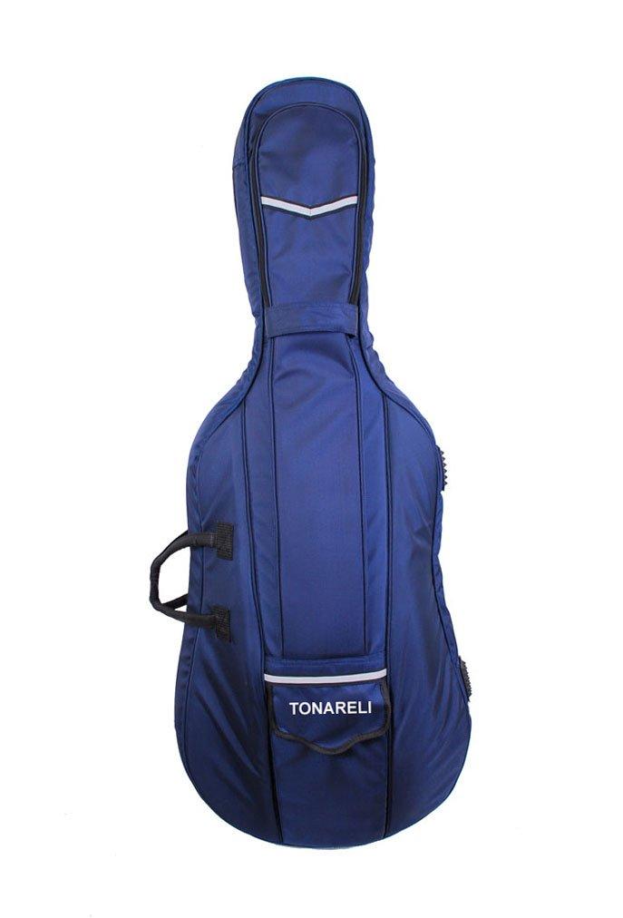Tonareli Designer Cello Gig Bag - Navy - 4/4