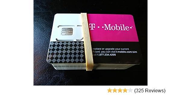 T-MOBILE TRIPLE CUT SIM CARD • STANDARD / MICRO / NANO GSM 4G LTE  -UNACTIVATED!-