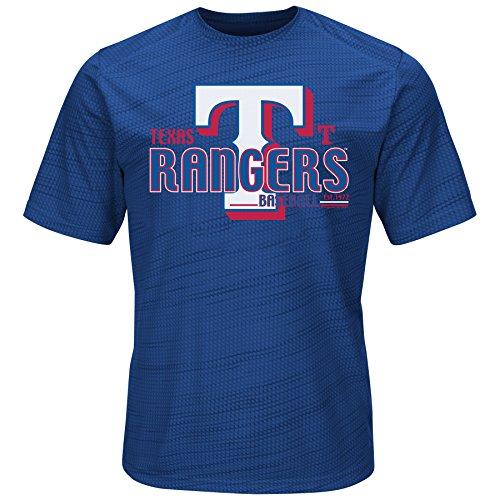 MLB Texas Rangers Men's Bringing The Glory Tops, Royal, Medium