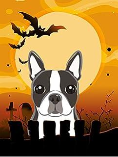 Carolineu0027s Treasures BB1761GF Halloween Boston Terrier Garden Size Flag,  Small, Multicolor
