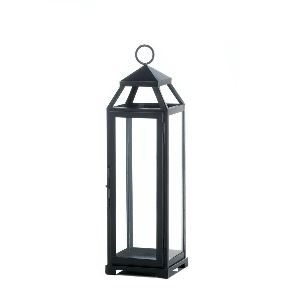 Koehler Large Lean & Sleek Candle Lantern, Black by Koehler