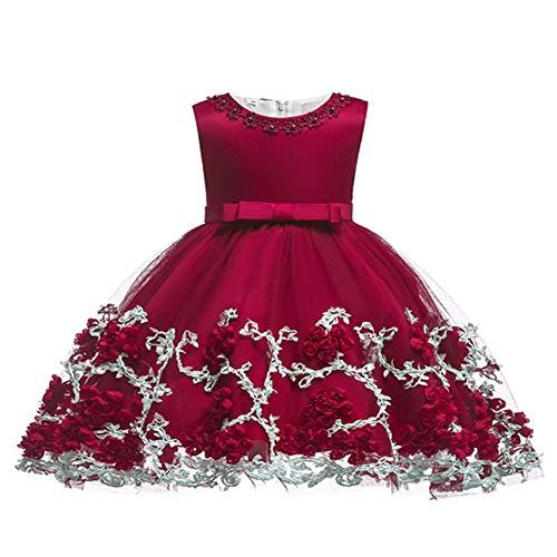 LZH Baby Girl Dress Formal Christening Baptism Gowns