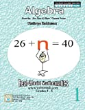 Algebra Worksheets - 3rd, 4th, 5th Grade Math (Just Turn and Share, Volume 1) by Kathryn Robinson (2012-05-03)