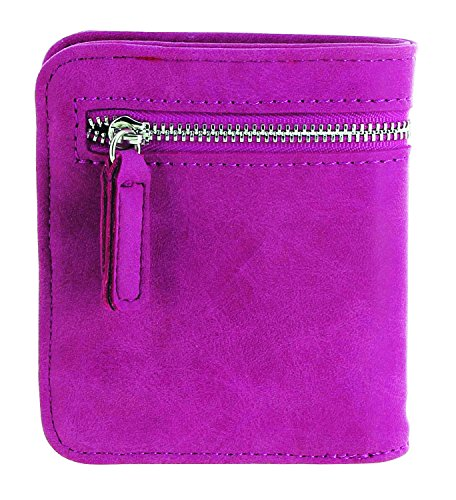 (Urban Energy RFID Wallet Compact Wallet with RFID Protection, Matte Pink)