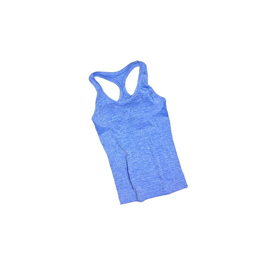 YAKER Women's Active Fitness Workout Soft Stretch Racerback Yoga Tank Top Shirt