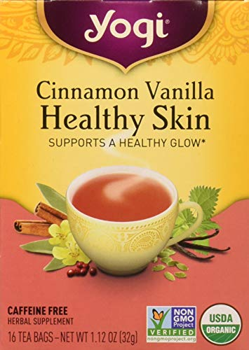 Yogi Tea, Cinnamon Vanilla Healthy Skin, 16 Count, Packaging May Vary