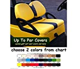Club Car Precedent Custom Golf Cart Front Seat Cover Set PLUS Rear Seat Cover Set Combo - ONE STRIPE STAPLE ON
