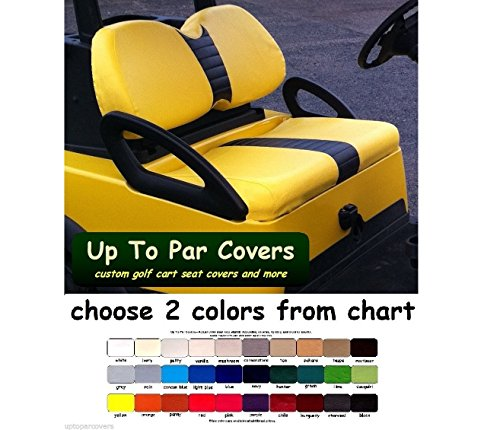 Club Car Precedent Custom Golf Cart Front Seat Cover Set PLUS Rear Seat Cover Set Combo - ONE STRIPE STAPLE ON by Up To Par Covers