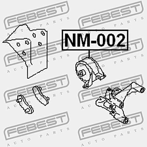 Febest: NM-002 CUSCINO DEL MOTORE DX IDRAULICA