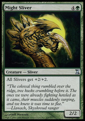Magic: the Gathering - Might Sliver - Time Spiral