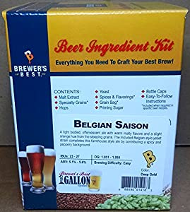 Home Brew Ohio B011WKPQL4 FBA_Does Not Apply Brewer's Best One Gallon Home Brew Beer Ingredient Kit (Belgian Saison), Multicolor