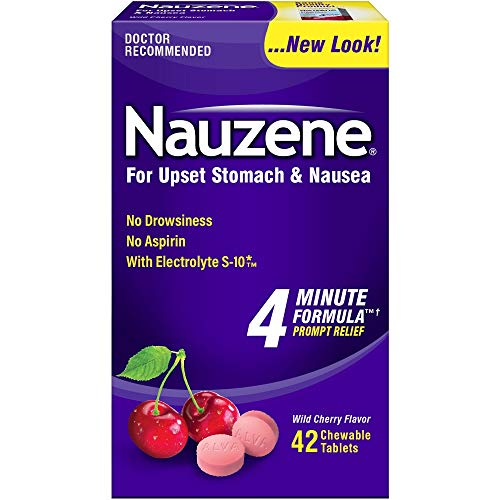 Nauzene Upset Stomach Relief Chewable Tablets, Cherry 40 tabs by Nauzene (Pack of 3)