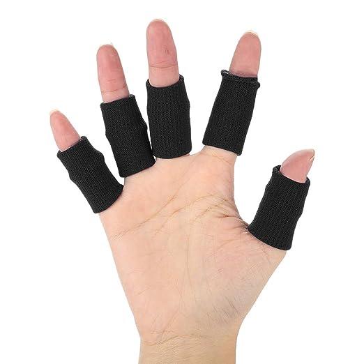 Sport elastische Finger Hülsen Stützdaumen Klammer Schutz Breathable