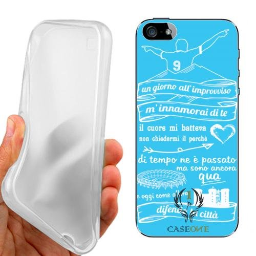 CUSTODIA COVER CASE FRASE NAPOLI PER IPHONE 5 5G 5S