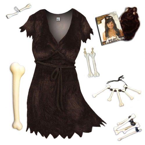 Sanctuarie Designs Women's Brown Cavewoman Deluxe Kit Plus Size Supersize Halloween Costume Dress Kit/2x/Brown/ (Cavewoman Halloween Costumes Plus Size)