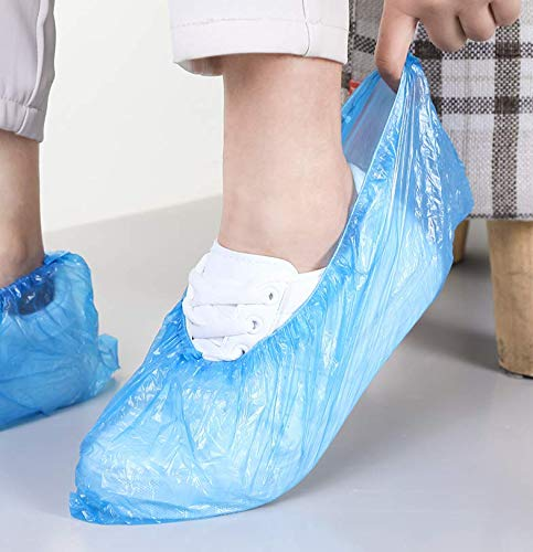 Household Disposable Thick Plastic Boot Shoe Cover Wear-resistant Dust-proof Waterproof 100Pcs