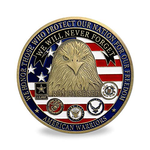 - Proud Military Family Challenge Coin - We Will Never Forget