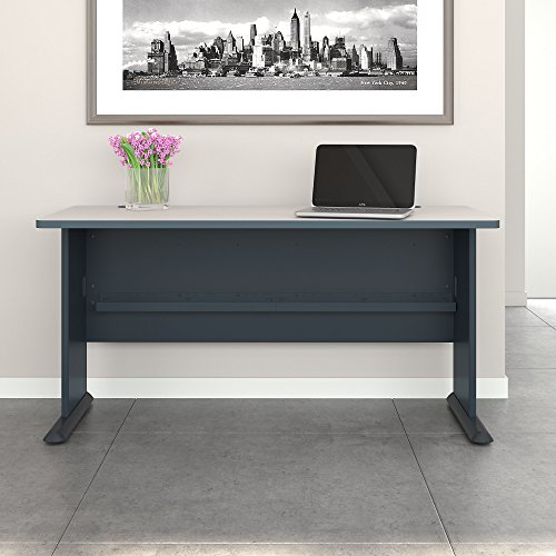 Series A 60W Desk in Slate and White Spectrum by Bush Business Furniture