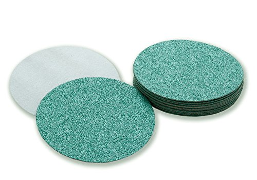 Sungold Abrasives 81264 Triathalon 50 Grit Heavy Duty Y Weight Green Zirconia Sanding Discs for Werkmaster (48 Pack), 5