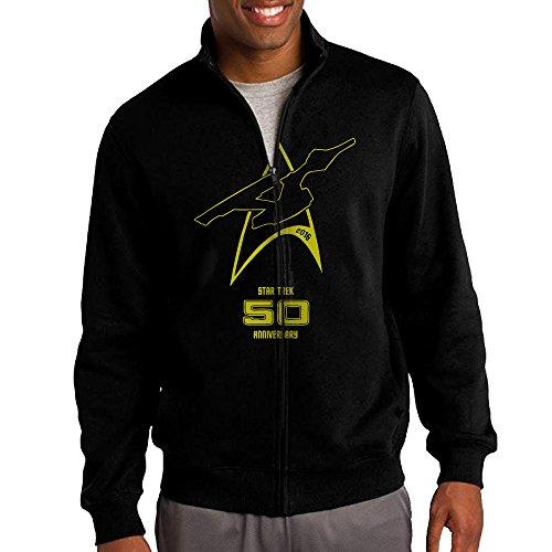 Mens Star Trek 50th Anniversary Zipper Jacket Hoodie ()