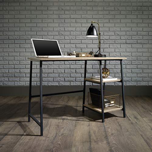 Oak-finished modern desk