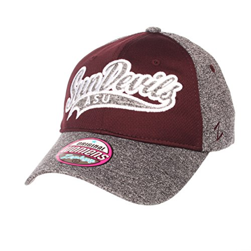 Zephyr NCAA Arizona State Sun Devils Women's Tempest Women's Hat, Adjustable, Grey/Team Color ()