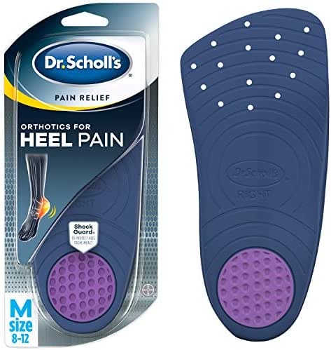 Dr. Scholl's HEEL Pain Relief Orthotics  (Men's 8-12, Women's 5-12) // With ShockGuard Technology to Protect Heels from Impact