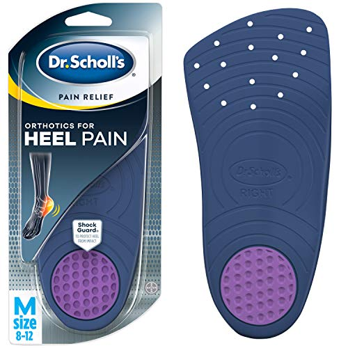 Dr. Scholl's HEEL Pain Relief Orthotics  (Men's 8-12, Women's 5-12) // With ShockGuard Technology to Protect Heels from Impact (Best Shoes For Heel Spur Pain)
