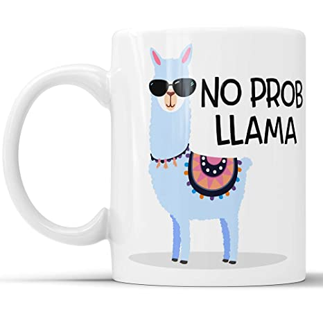 Amazon No Prob Llama Coffee Mug Funny