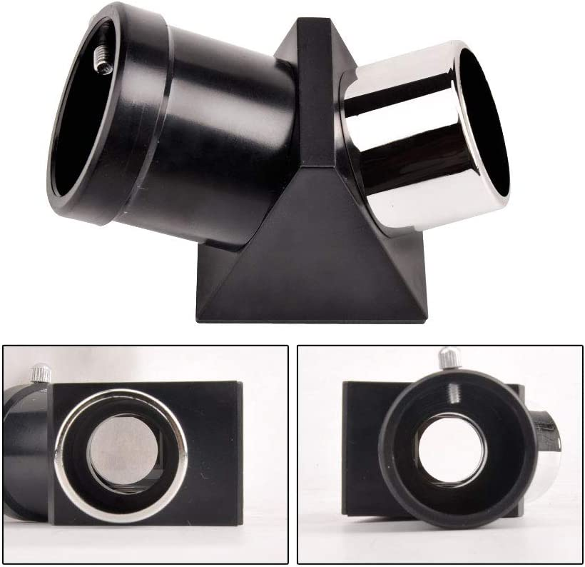 """1.25"""" 45-Degree Erect Image Prism Diagonal for Telescope, 31.7mm Optical Prism Inside Rather Than a Mirror"""