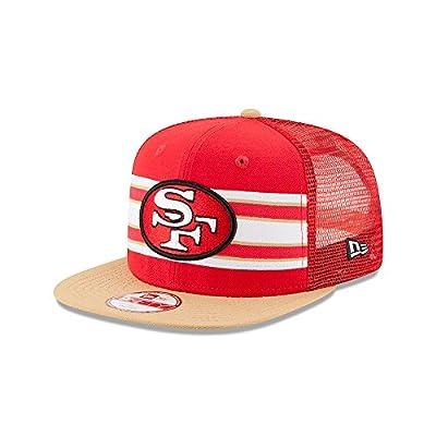 San Francisco 49ers Throwback Stripe Snapback Hat / Cap