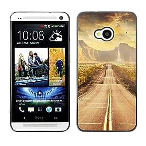 TopCaseStore / la caja del caucho duro de la cubierta de protección de la piel - Road scenery - HTC One M7