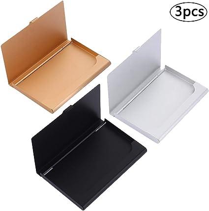 Business Card Case, BETOY 3 Pieza Cajas Para Tarjetas De Visita ...