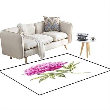 Amazon.com: Girls Bedroom Rug Watercolor Pink Peonies 40\