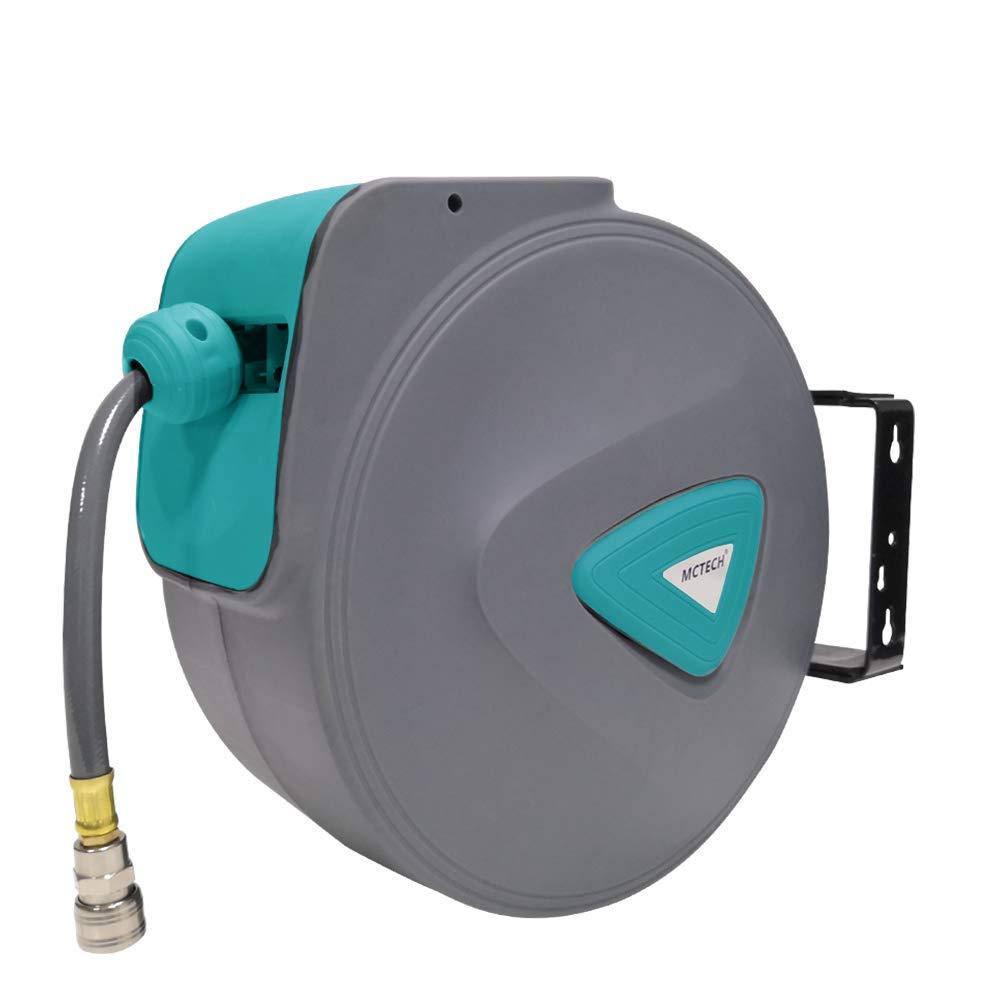 HENGMEI 20m Manguera de aire comprimido Carrete de manguera de aire Autom/ático de Aire Comprimido