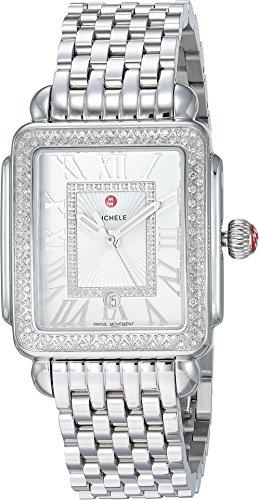 Michele Women's Deco Madison Mid - MWW06G000001 Silver One Size (Diamond Michele Deco Watch)