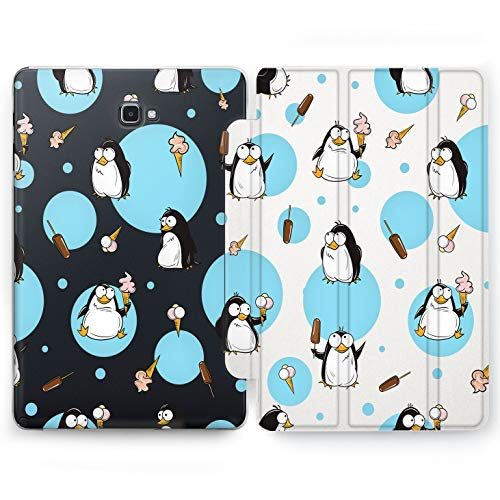 (Wonder Wild Cute Penguin Samsung Galaxy Tab S4 S2 S3 A E Smart Stand Case 2015 2016 2017 2018 Tablet Cover 8 9.6 9.7 10 10.1 10.5 Inch Clear Design)