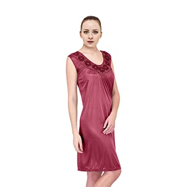af0c5c6c98d Ezi Plus Size Nightgowns for Women Satin Silk at Amazon Women s Clothing  store