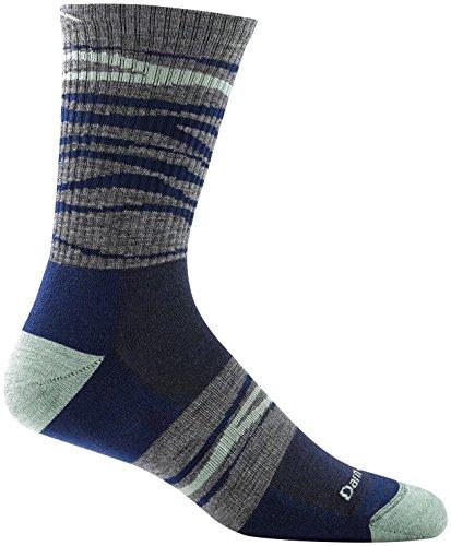 Darn Tough Switchback Micro Crew Light Cushion Sock - Mens Navy Large