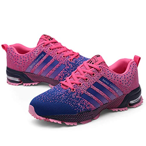 KUBUA Womens Running Shoes Trail Fashion Sneakers Tennis Sports Casual Walking Athletic Fitness Indoor and Outdoor Shoes for Women F Purple Women 5 M US/Men 4 M US by KUBUA (Image #2)