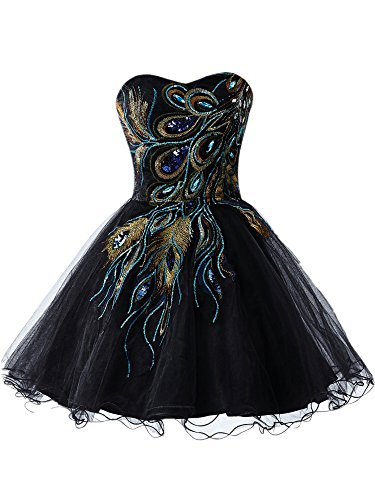 2016-peacock-short-holiday-strapless-party-cocktail-homecoming-dress-black-6