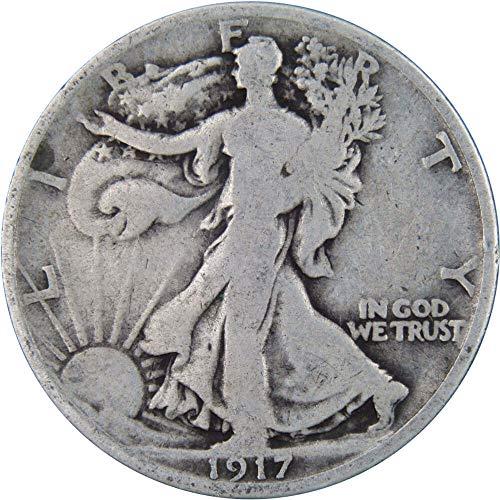 1917 50c Liberty Walking Silver Half Dollar Average Circulated (1917 Walking Liberty)