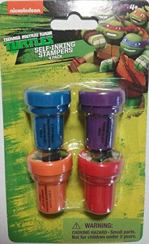 [Nickelodeon Teenage Mutant Ninja Turtles Self-Inking Stampers Four Pack] (Nickelodeon Teenage Mutant Ninja Turtles Treat Bags)
